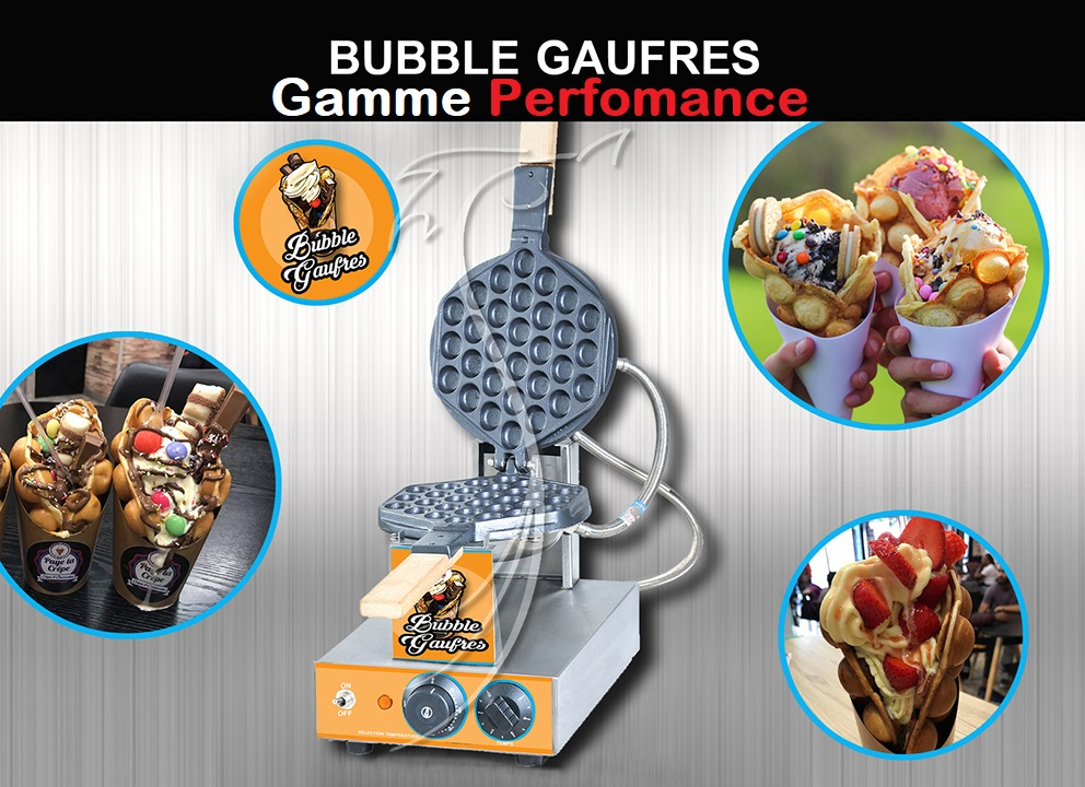 BUBBLE WAFFLE / GAUFRIER BULLE / GAMME PERFORMANCE