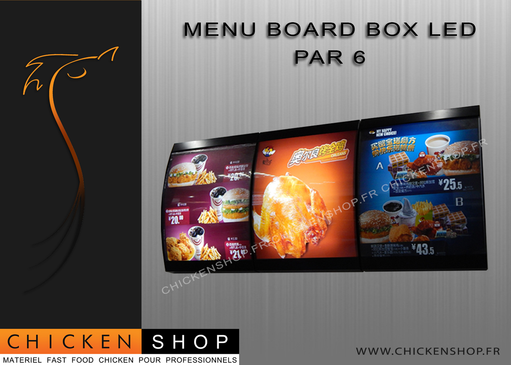 Menu Board BOX LED par 6