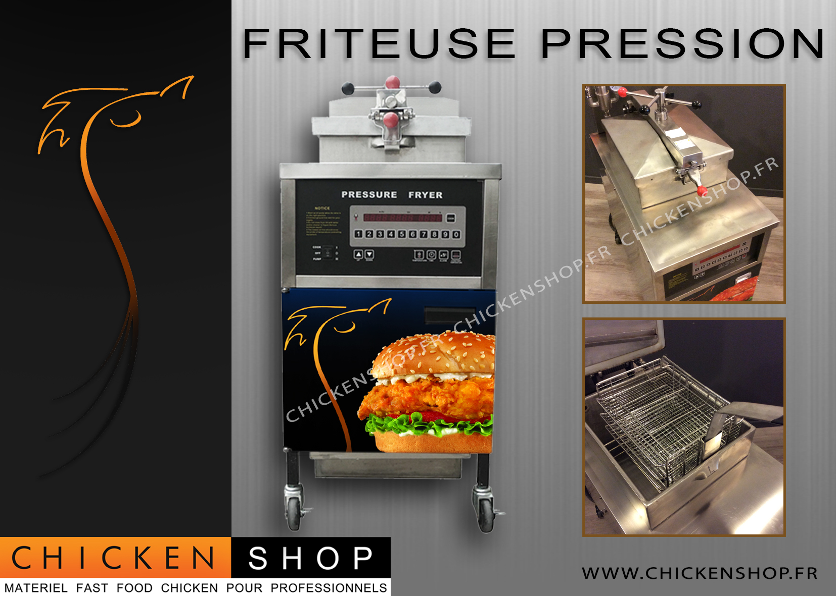 Friteuse Pression Digitale Gaz
